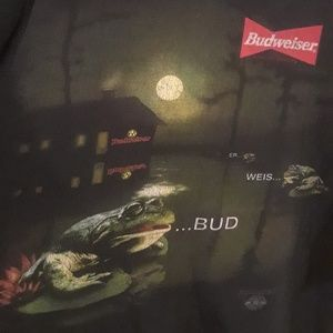 Vintage 90s Budweiser Frogs Tshirt SZ XL